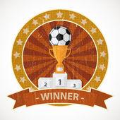 Coppa e soccer ball — Vettoriale Stock