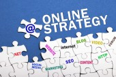 Online Marketing Puzzle — Stock Photo