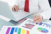 Analytical business graphs — Stock Photo