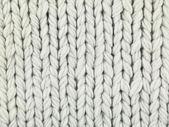 Macro white sweater — Stock Photo
