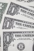 One dollar bill macro — Photo