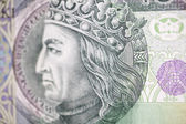 King of Poland on the hundred bill — Stock Photo