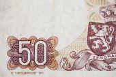 Fifty francs denomination — Stock Photo