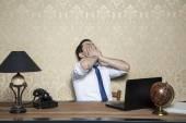 Overworked businessman — Stock Photo