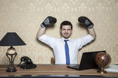 Success in the work is the reason for promotion — Foto Stock