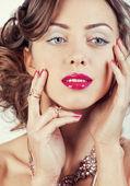 Luxury woman with jewellery — Stock Photo