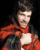 Man warmed up in scarf — Stock Photo