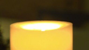 Close-up of a burning candle — Stock Video