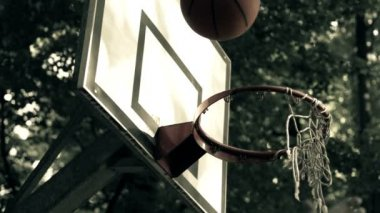 Basketball ball score point shot — Video Stock