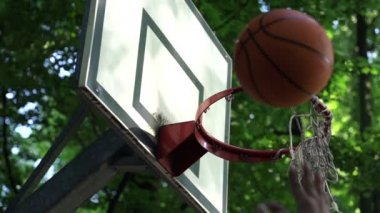 Basketball ball score point shot — Stock Video