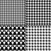 Monochrome geometric  patterns — Stock Vector