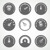 Speedometer flat  collection — Wektor stockowy