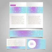 Brochure page, banner and business card — Stock Vector