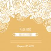 Invitation card with roses background — Stock Vector