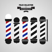 Barber shop vintage pole — Stock Vector