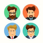 Business and casual man cartoon characters. — Stock Vector