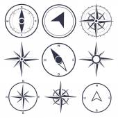 Wind rose compass — Stock Vector