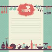 Vintage style cooking book page — Stock Vector