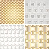 Art Deco seamless pattern set. — Stock Vector