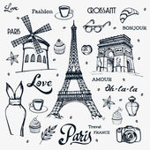 Paris - a city of love and romanticism — Stock Vector