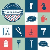 Barber Shop vintage tools — Stock vektor