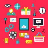 Web infographics ikoner för företag webbplats — Stockvektor