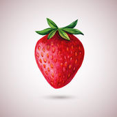 Strawberry watercolor isolated on white — Stock Vector