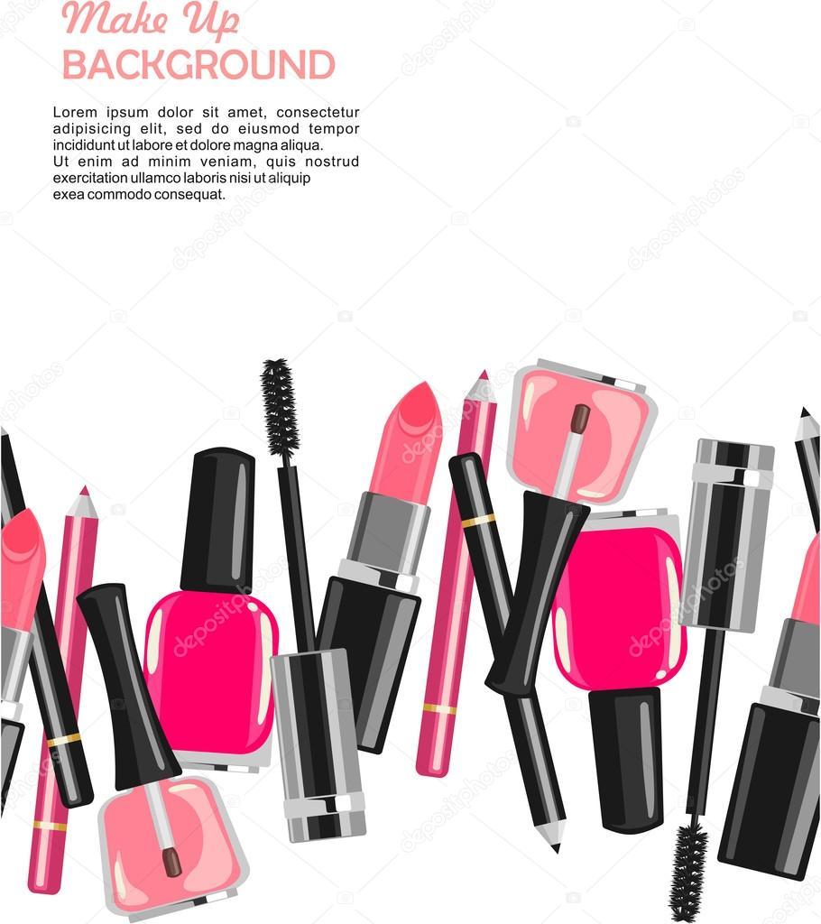 Beauty salon make up fashion pattern stock vector lub for Aaina beauty salon electronic city