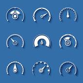 Speedometer icons set — Stock Vector