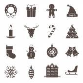 Icônes de noël et nouvel an — Vecteur