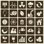 Ecology, environment icons set — Stock Vector