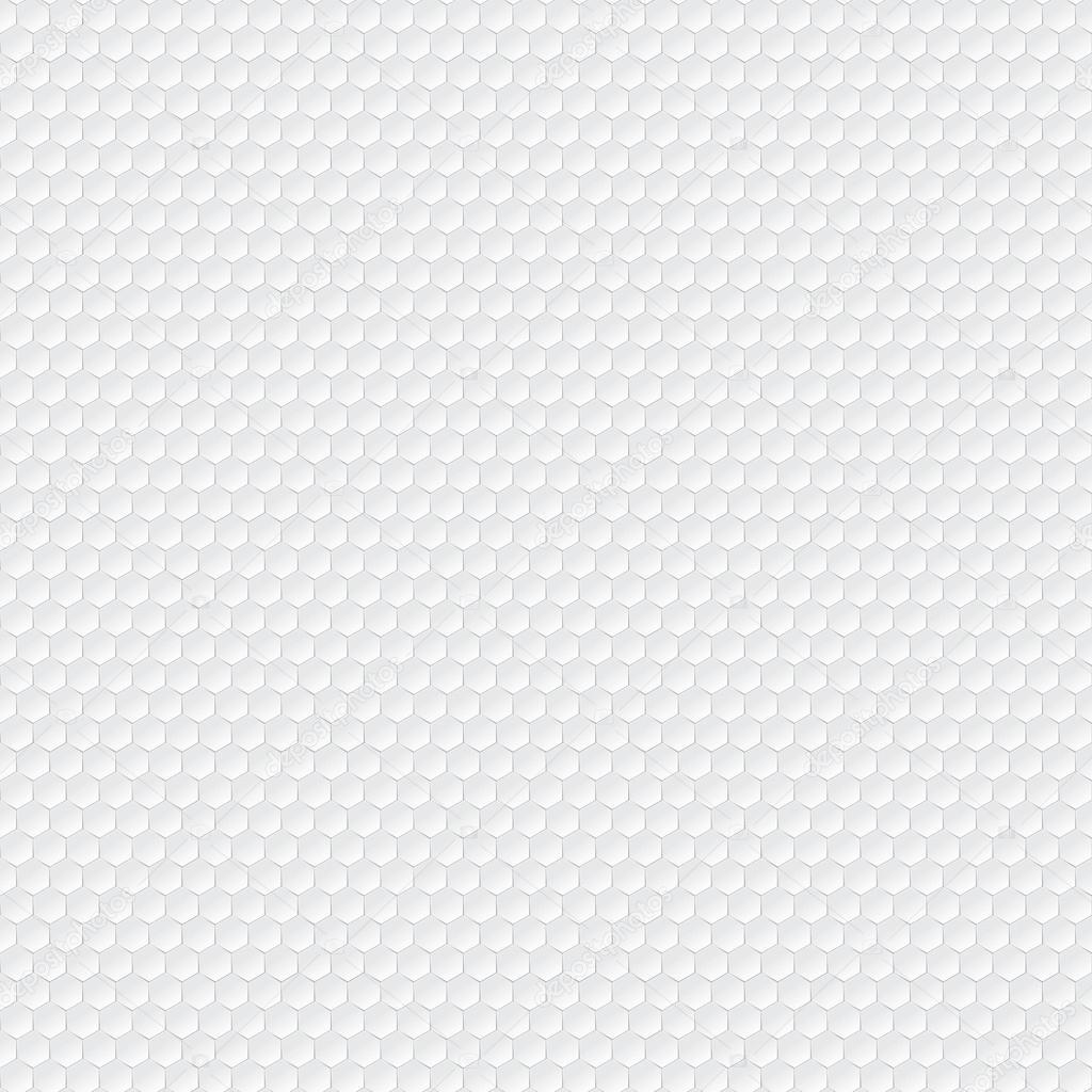 六角形的白色无缝矢量模式