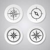 Wind rose compasses — Stock Vector