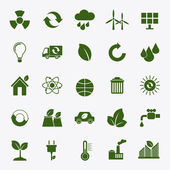Ecology flat icons — Stock Vector