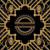 Art Deco vinobraní dekorativní rám. — Stock vektor