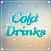 Cold drinks — Stock Vector