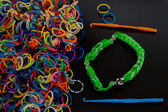 Gekleurde elastiekjes — Stockfoto