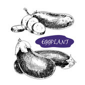 Illustration aubergine — Vecteur