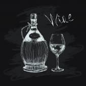 Chianti bottle — Stock Vector