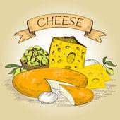 Cheese. — Stock Vector
