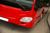New modern city bus — 图库照片