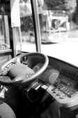 Detail autobus kabinou — Stock fotografie