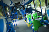 Seat places in modern city bus — Stock Photo