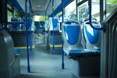 Lugares de asiento en el autobús de la ciudad moderna — Foto de Stock