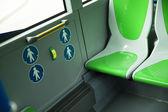 Platz für behinderte Menschen und Babys im bus — Stockfoto