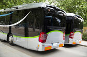 New modern city bus — Stock Photo