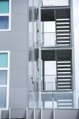 A fire escape from modern building — Stock Photo