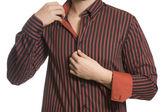 Nahaufnahme der Torso des zuversichtlich unbekannten Geschäftsmann tragen elega — Stockfoto