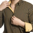 Closeup of torso of confident unknown business man wearing elega — Stockfoto #69628767