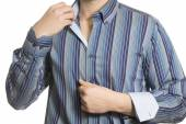 Closeup of torso of confident unknown business man wearing elega — Stock Photo